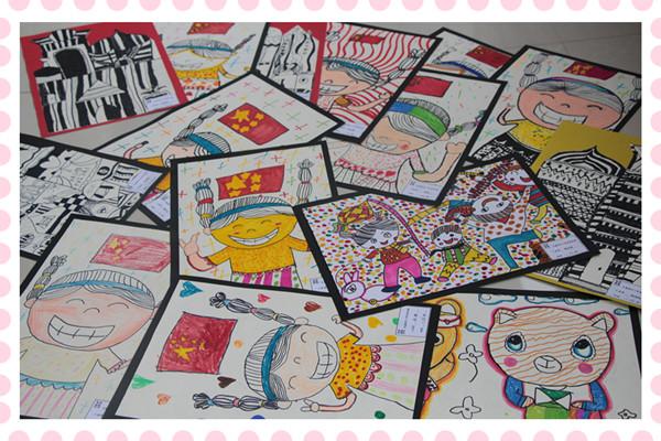 孩子们的参展作品(水彩画,蜡笔画等)