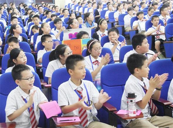 温州翔宇初中学生会干部竞选:拼才艺 展风采