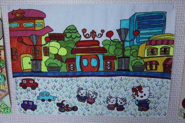 温州翔宇初中部举办学生美术作品展