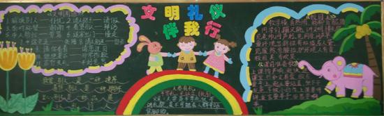 """小学部德育处将三月份教育主题确定为""""文明伴我行"""",并举行了以此为"""