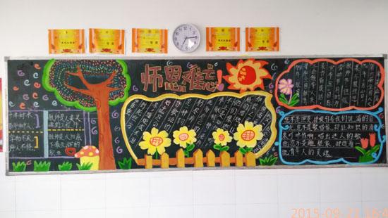 淮安曙光小学部举行九月份黑板报评比图片