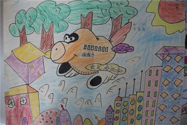 淮外科技节:科学幻想绘画活动优秀作品图片