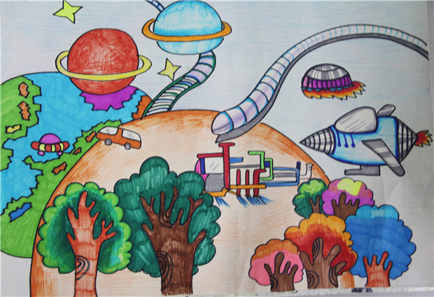 淮外科技节:科学幻想绘画活动和科普小报制作活动优秀