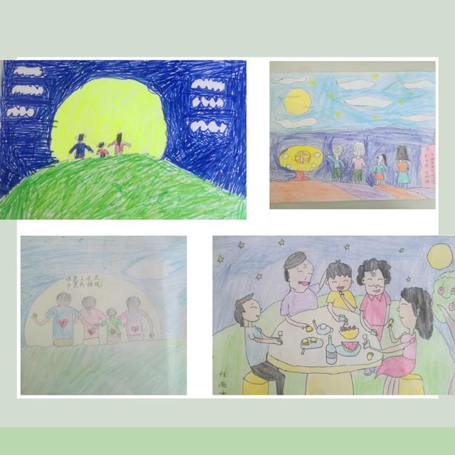 有的写作文庆祝节日,有的做手抄报给同学欣赏,有的发来了一家团圆共同