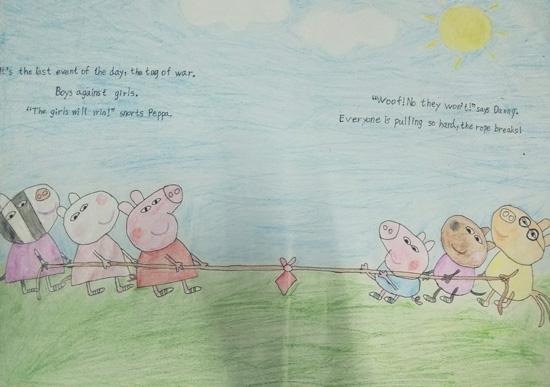 曙光小学部 举行低年级英文画报设计竞赛