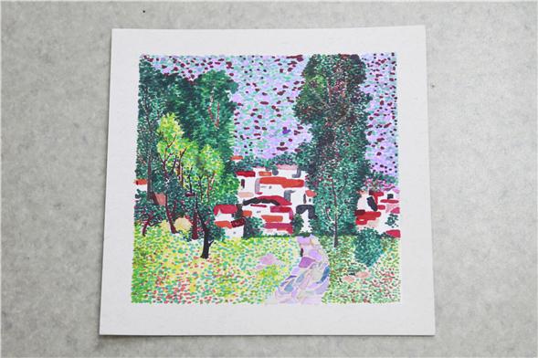 宇初中学生美术作品系列之水彩临摹画