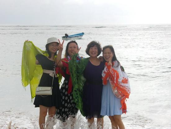 巴厘岛海边留影